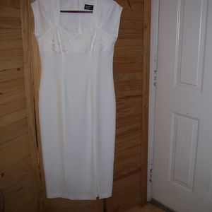 VTG Dawn Joy Fashions Long Ivory Evening Dress